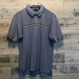 Shortsleeved IZOD polo with striped detail size M
